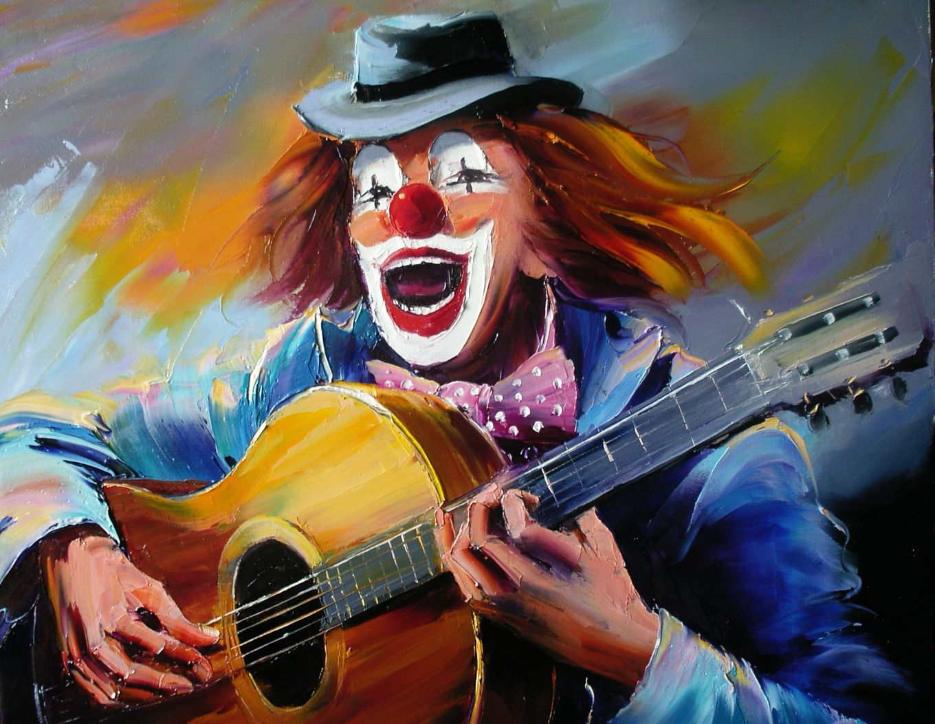 Clown à la guitare