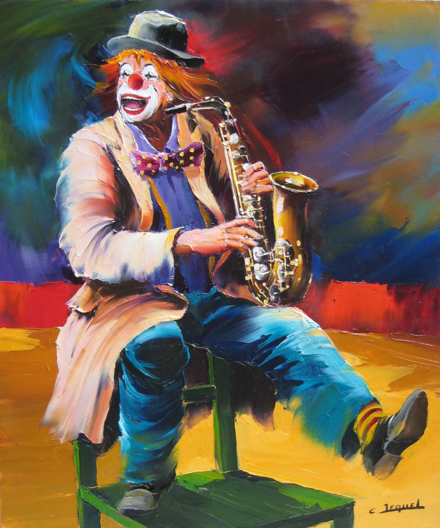 Clown au saxo