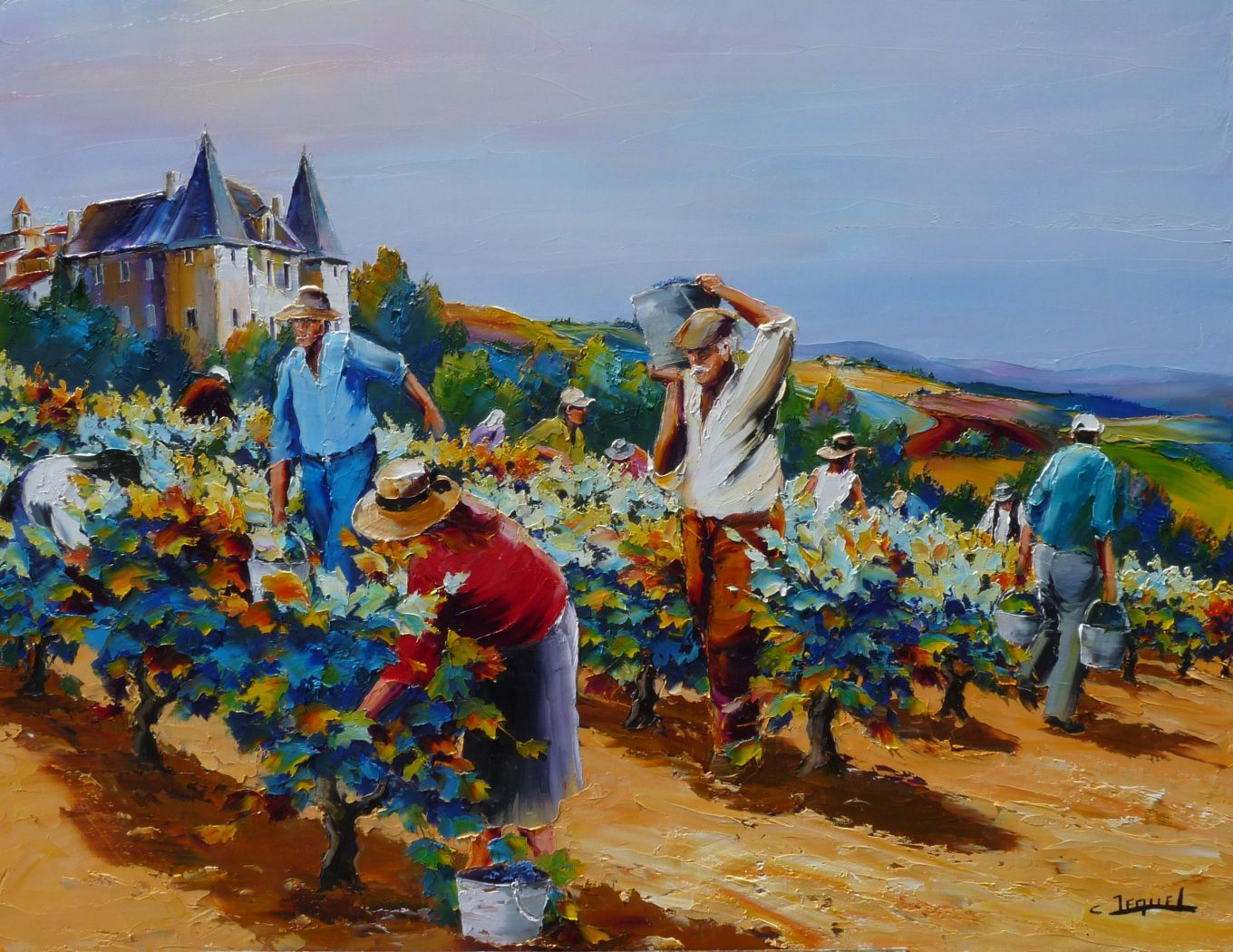 Vendanges au chateau
